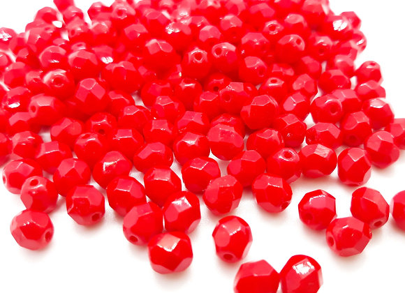 Preciosa Czech Fire Polished Bead Opaque Red Pack of 25