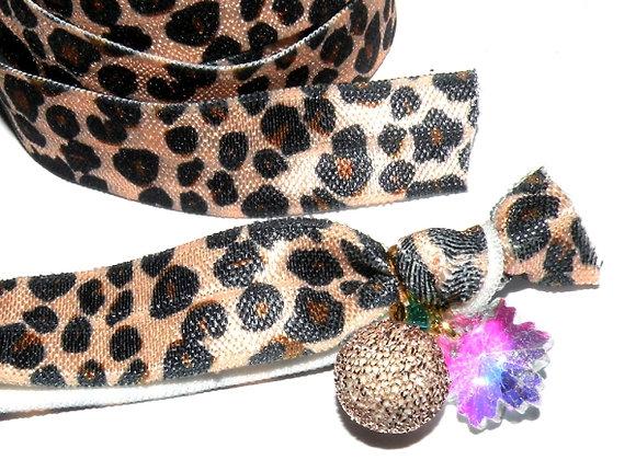 Elastic Ribbon - Leopard print - 80cm
