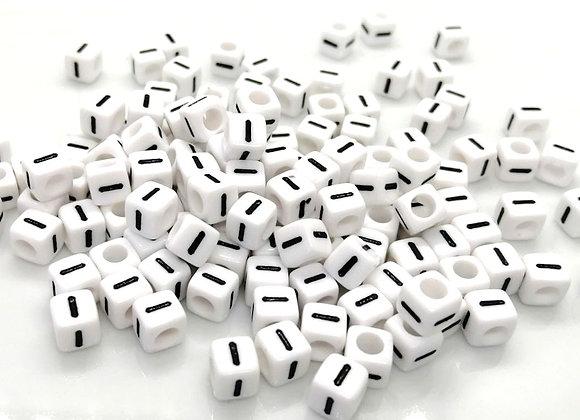 Acrylic Cube Letter I Pony Bead