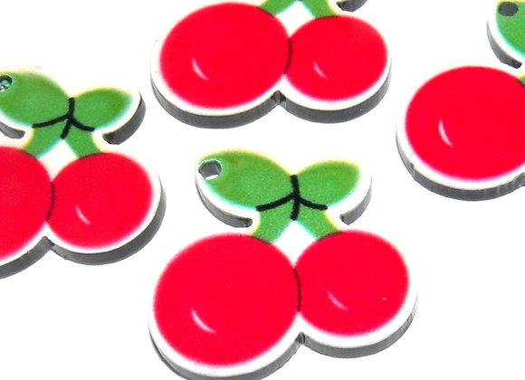 Resin Cherry Charm