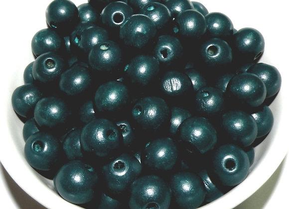Wooden  Bead Pack - Dark Blue Petrol