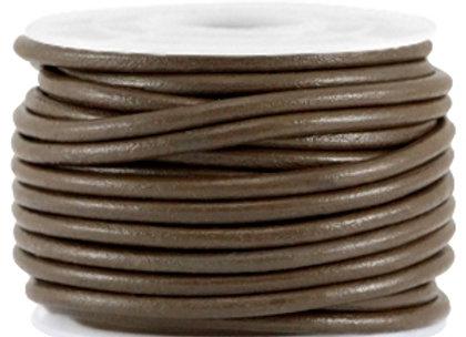 Designer Quality Dark Brown 3mm Round Leather