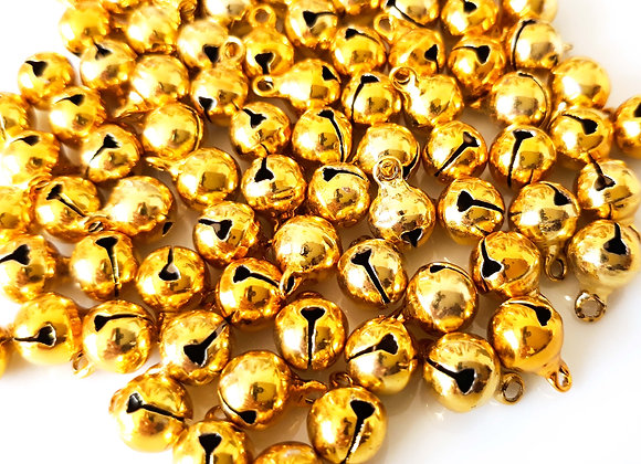 Small Brass Bells Gold Pack of 10