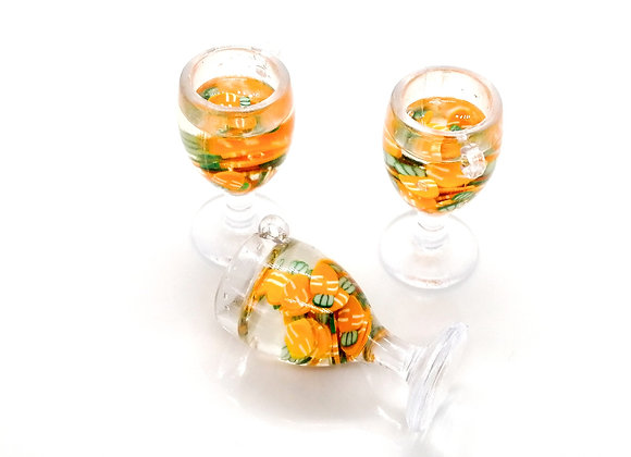 Resin & Clay Cocktail Drink Charm - Carrot