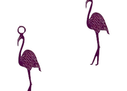 Bohemian Charms Flamingo - Dark Purple - Pack of 2