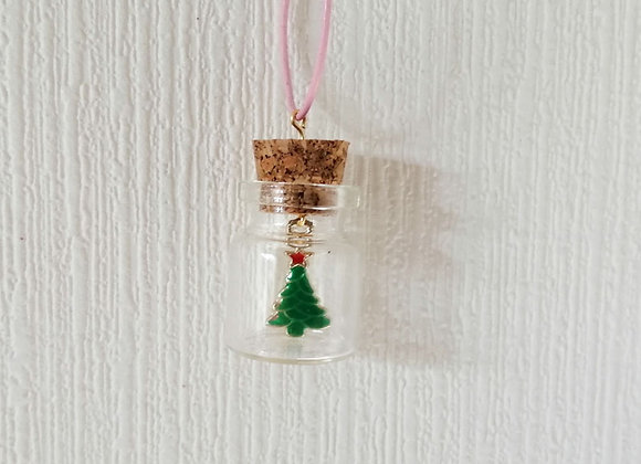 Christmas Tree in a Bottle Charm