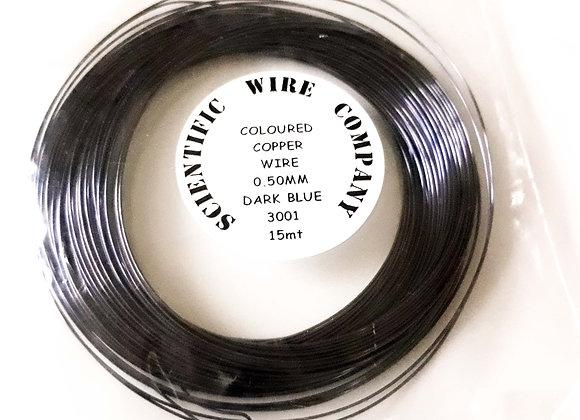 Coloured Copper Craft Wire Dark Blue