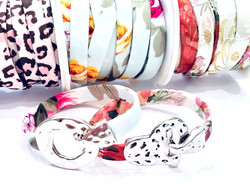 Flat Fabric Bracelet with Toggle Clasp
