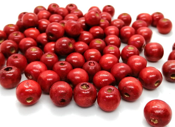 Red Wood Beads 12mm