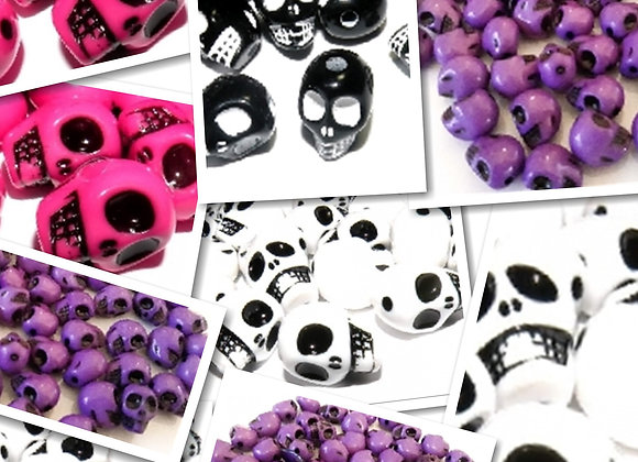 Skull Beads 12x9mm - Choice of Colours