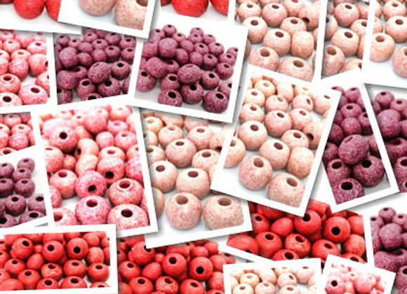 Stone Washed Ceramic Rondelle Beads 15mm - Choice of Colours