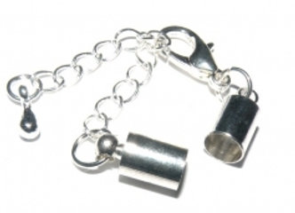 Platinum Bell Closer 5mm Hole with Clasp & Chain