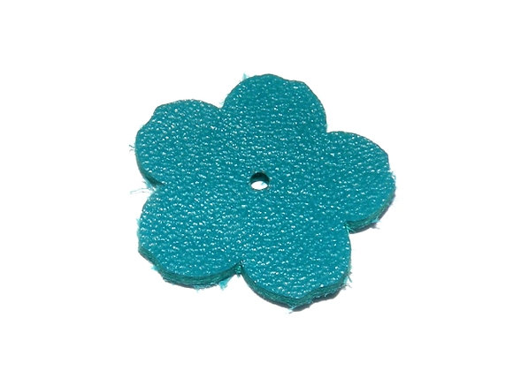 Leather Flowers 25mm -  Choice of Colours