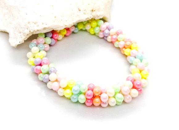 Elastic Bracelet Kit - Colourful Spacers