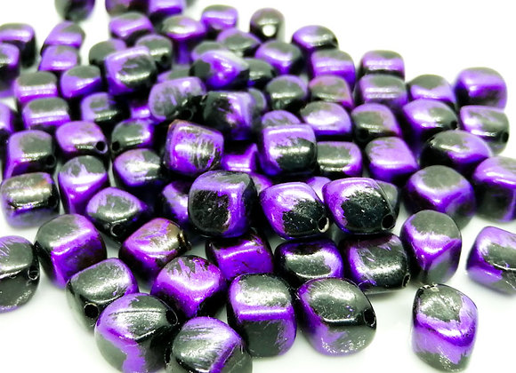 Diamond Cube Bead 10mm - Deep Purple Shine