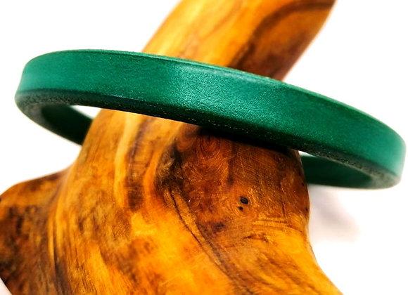 Regaliz® Licorice Leather 10x6mm - Dark Turquoise Green
