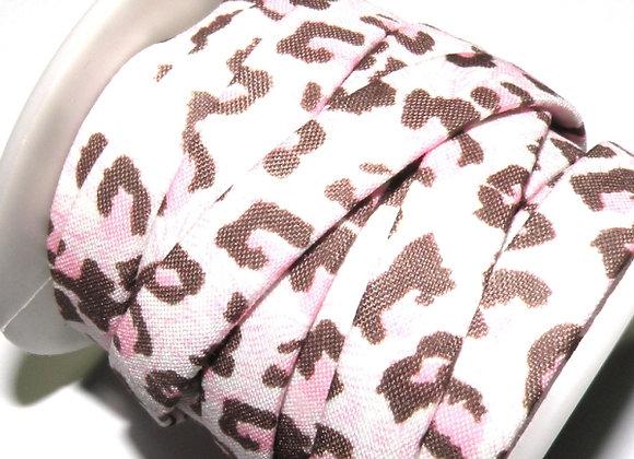 Flat Fabric Cord - Pink Leopard Print