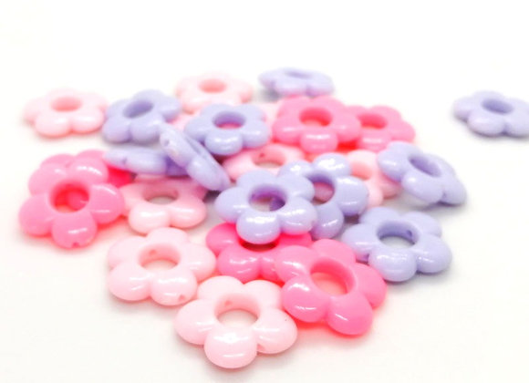 Acrylic Flower Beads Pack of 20