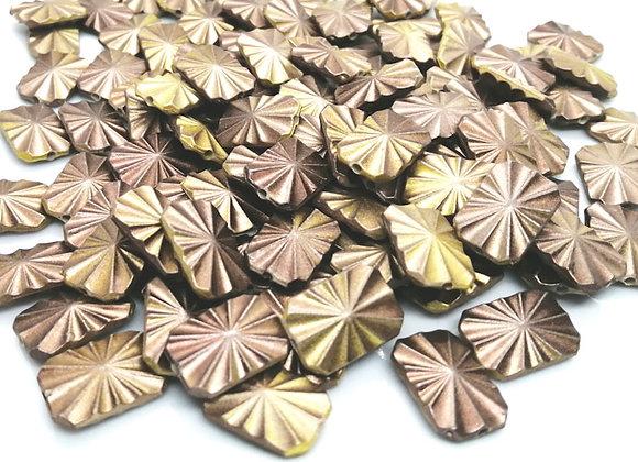 Flat brown textured acrylic bead jewellery beads