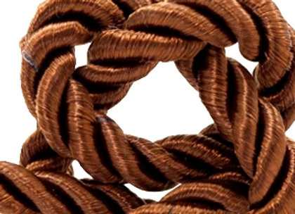 Cord Weave - 6mm Light Chocolate Brown
