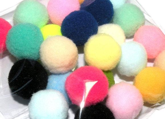 Multi Mixed Medium Pompom Pack of 30