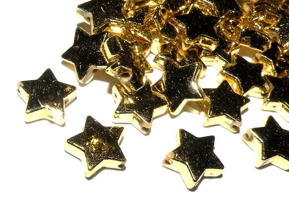 Jewellery Making beads gold star bead