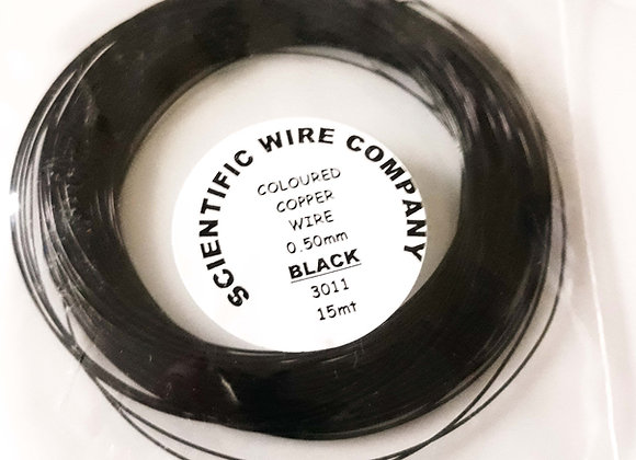 Coloured Copper Craft Wire Black