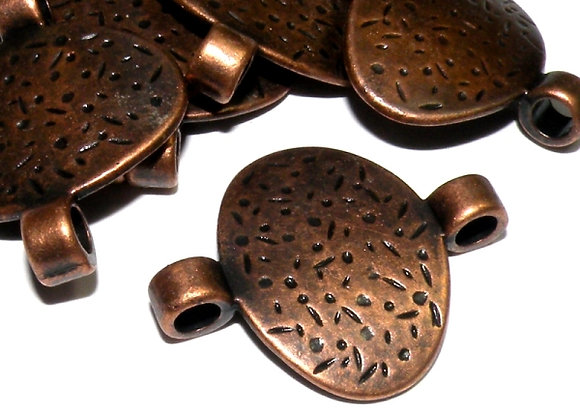 Large Disc Link - Antique Copper