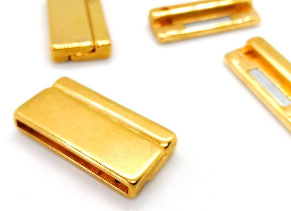 Zamak Magnetic Clasp - 31.5x2.3mm Hole - 24K Gold Plate