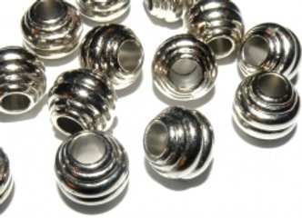 CCB Rondelle Bead 11mm - Silver
