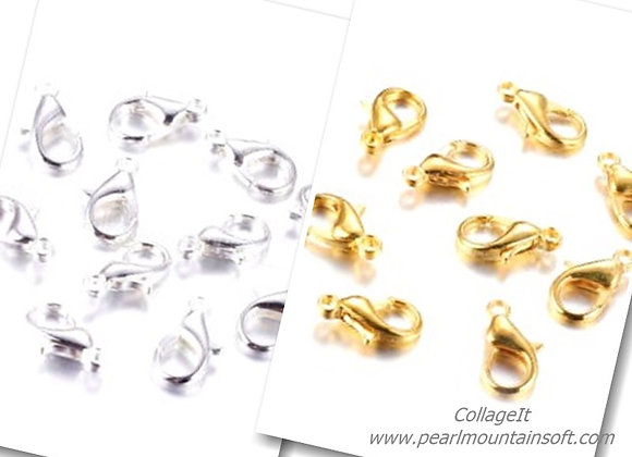 Lobster Claw Clasps 14mm - Gold or Silver