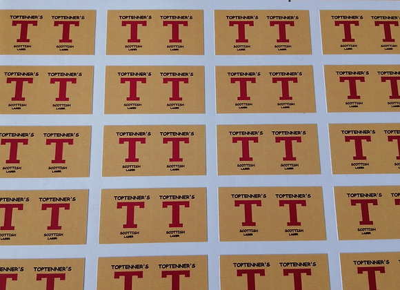 Fun Novelty Craft Stickers - TopTenner's Lager - Pack of 50