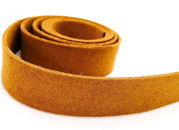 Soft Suede Cord 20mm - Tan