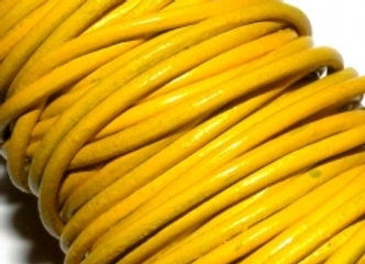 Yellow Indian Round Leather 1mm
