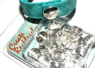 The Beadsmith Create Recklessly Silver Plated Line 20 Snap Pack Fitting