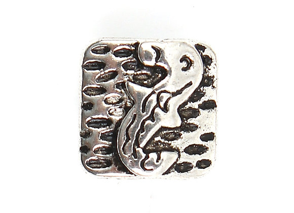 Alloy Spacer Bead Fish - 10mm - Antique Silver