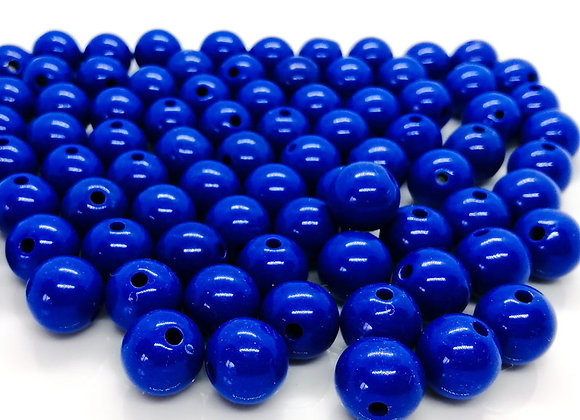 Opaque Acrylic Round Bead 14mm - Royal Blue Pack of 10