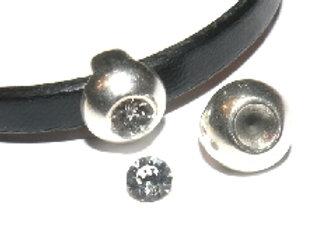 Swarovski Crystal Slider Bead - 5mm Hole