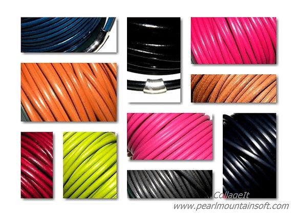 Spanish Round Leather - 5mm