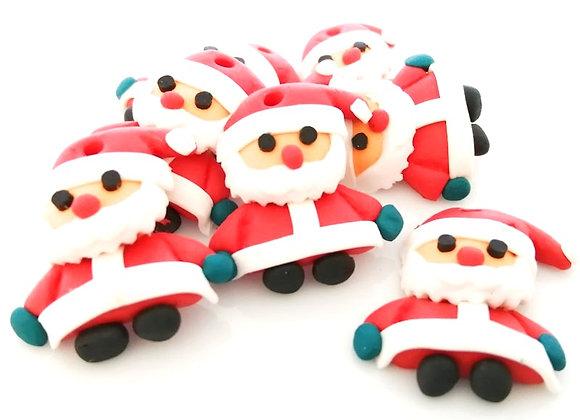 Handmade Polymer Clay Father Christmas Santa Charm