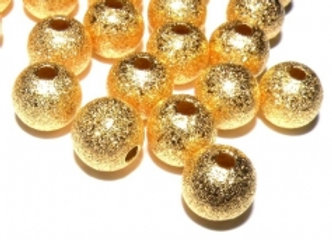 Golden Stardust Beads - 8mm Pack of 10