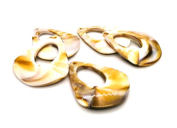 Acrylic Gemstone Style Pendant - Linen