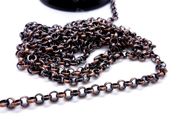 Black Copper Rolo Chain 4.5mm