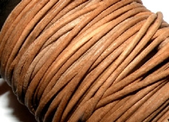 Natural Indian Round Leather 1mm