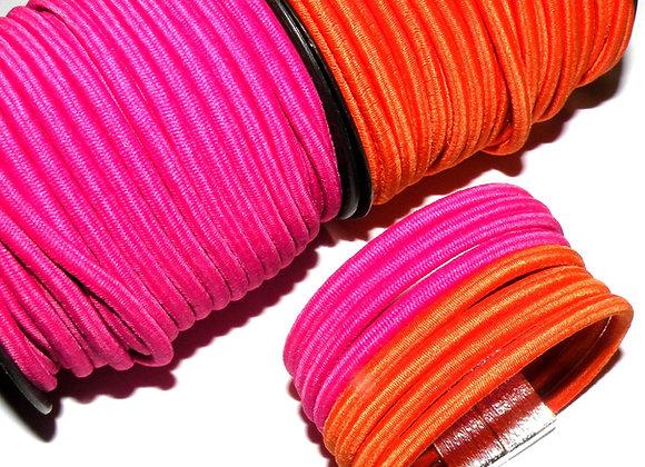 Round Elastic Cord 4mm  - Orange or Fuschia