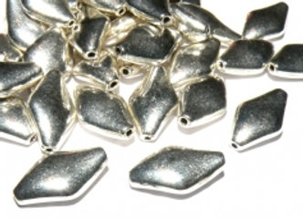 Tibetan Style Rhombus Beads Pack of 10
