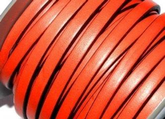 Orange Flat Leather 5mm