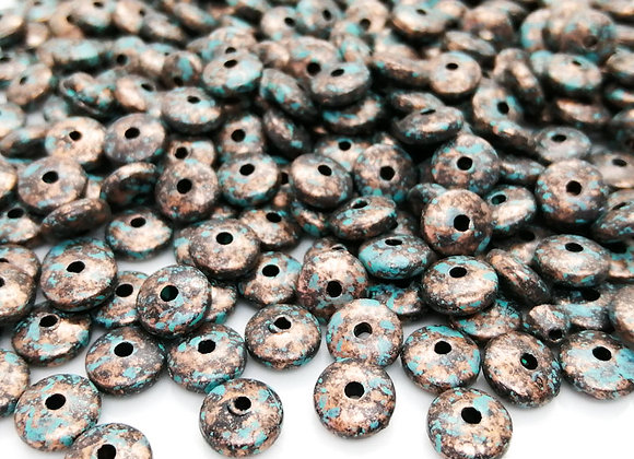 Antique Style Disc Bead Spacer 3x8mm - Bronze Patina - Pack of 20