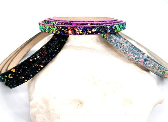 Flat PU Faux Leather Super Glitter Mix 5mm - Choice of Colours