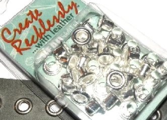 The Beadsmith Create Recklessly Silver Plated Eyelet Pack - 3/16